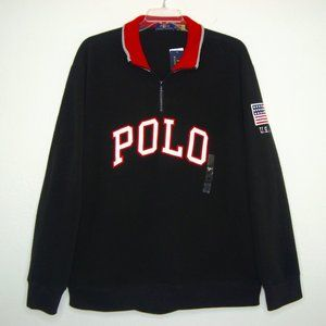 NWT POLO Ralph Lauren USA Flag 1/4 Zip Fleece Pullover Size XXL